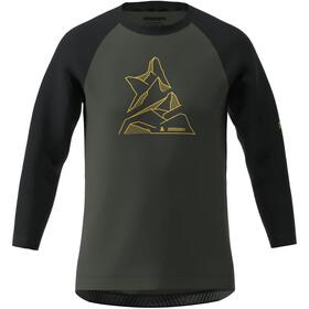 Zimtstern PureFlowz Koszulka z rękawem 3/4 Mężczyźni, gun metal/pirate black